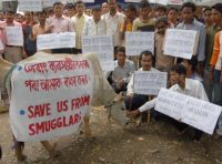 Cows are smuggled from West Bengal to Bangladesh for slaughter.