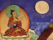 Buddha pointing at the moon.