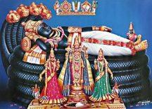Sri Ranganathaswamy at Srirangam, Tamil Nadu.