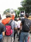 Baba Ramdev poster being carried in a Mumbai Gay Pride Parade