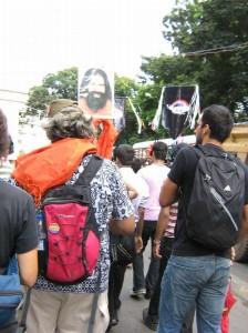 Baba Ramdev at Mumbai Gay Pride Parade.