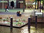 Monument to gays and lesbians in Amsterdam.