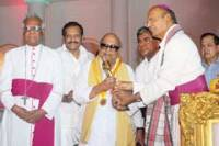 M. Karunanidhi with Catholic bishops of Tamil Nadu