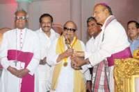 M. Karunanidhi with Catholic bishops of Tamil Nadu
