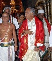 Yeddyurappa at Tirumala