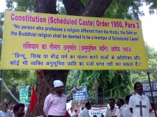 Constitution Order on Scheduled Castes 1950.