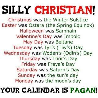 Christian calendar is Pagan!