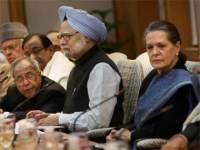 Sonia Gandhi, Manmohan Singh, Pranab Mukerjee