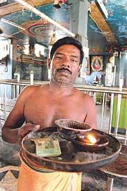 Non-Brahmin Tamil priest