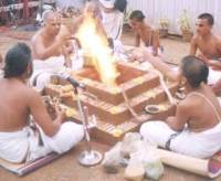 Yagna in progress.