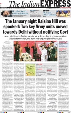 The Indian Express Front Page on 2 April 2012