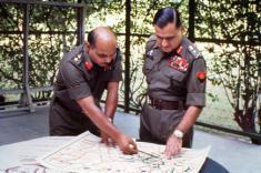 """Colonel """"Bull"""" Kumar (L) & General T.N. Raina"""