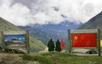 Nathula Pass on the India-China border.