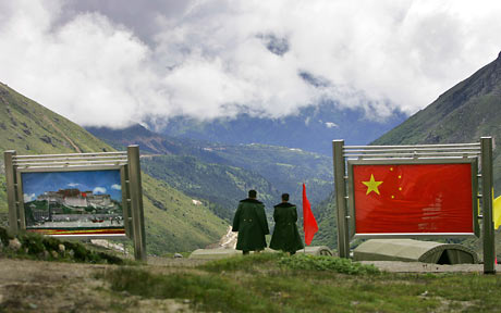 Nathula Pass on the India-China border.