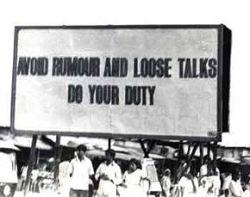 Warning sign in New Delhi