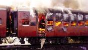 Burning train