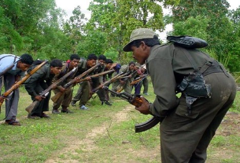 Maoists training.