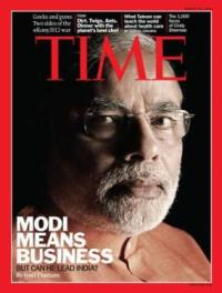 Narendra Modi on Time Magazine cover.