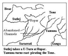 Saraswati River Map