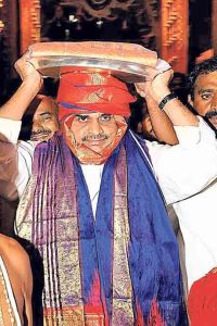 YSR at Tirumala