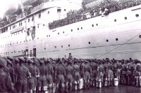 British troops leaving India in 1947