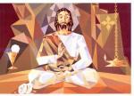 Jesus depicted as a Hindu Yogi
