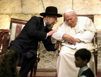 Chief Rabbi of Israel & Pope John Paul II