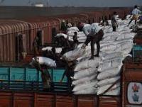 Loading fertilizer in Karaikal Port.