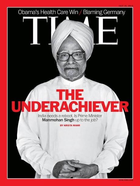 Prime Minister Manmohan Singh on Time Magazine cover.