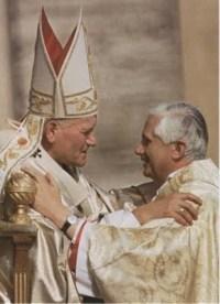 Pope John Paul II + Cardinal Ratzinger