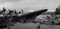 Roswell crashed flying saucer.