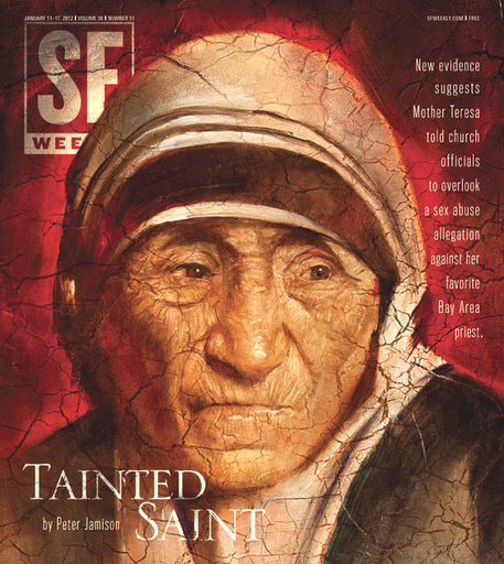 Mother Teresa on the cover of SF Weekly.