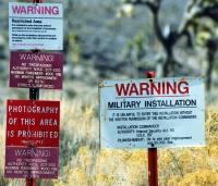 Military warning sign