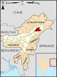 North-Eastern States bordering Band\gladesh, Burma and China