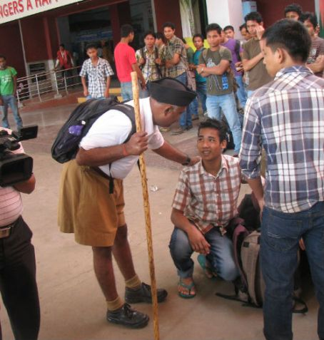 Assamese students fleeing South India
