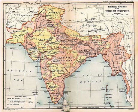British India in 1909 corresponded to the borders of the India of the Ramayana and Mahabharata.