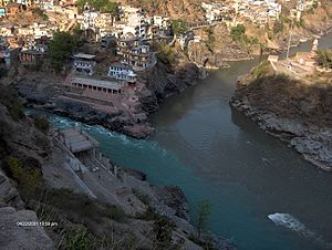 Devprayag : Confluence of the Bhagirathi and Alaknanda rivers, and birthplace of the Ganga.
