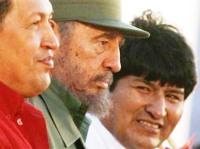 Hugo Chavez, Fidel Castro & Evo Morales