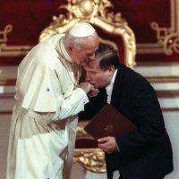 Pope John Paul II & Lech Walesa