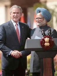 Manmohan Singh & George Bush