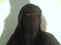 Lady in a niqab