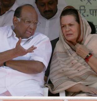 Sharad Pawar & Sonia Gandhi