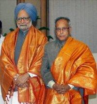 Manmohan Singh & Pranab Mukherjee