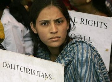 Dalit Christians protest against discrimination in the Church