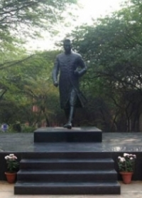 Nehru statue on the JNU Delhi campus