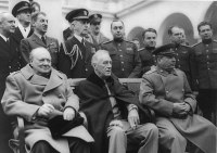 Churchill, Roosevelt and Stalin at Yalta.