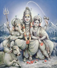 Shiva and Parvati with Ganesha