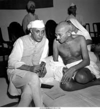 M.K. Gandhi & J. Nehru
