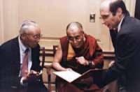 Elliot Sperling & Dalai Lama