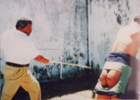 A judicial caning in Singapore